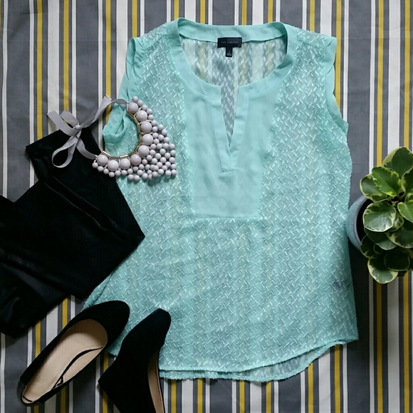 The Limited Tops - The Limited sheer mint blouse